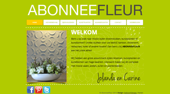 Nieuwe website Abonneefleur