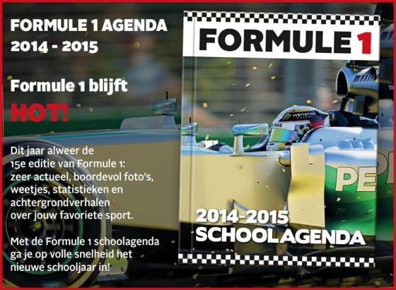Formule 1 Schoolagenda 2014 - 2015